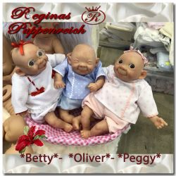 Betty-Oliver-Peggy - Goofy Baby Troll Kits Triplet-Pepe Catala