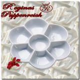 Blumenförmige Keramik Farbmischpalette