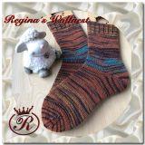 Handgestrickte Socken (Große: 42/43)